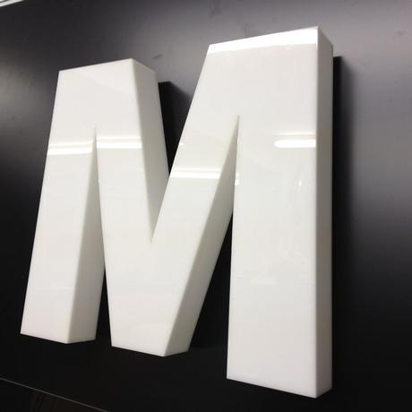3D Raised letters